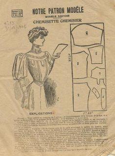 Les Fées Tisseuses :: Patrons 1800 à 1910 gratuits Costume Patterns, Doll Clothes Patterns, Clothing Patterns, Belle Epoque, France Mode, Patterns Of Fashion, Vintage Dress Patterns, Victorian Fashion, Vintage Fashion