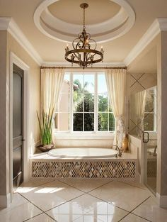 In a house, especially a large house must have a master bathroom. And the master bathroom has a larger size than the other bathrooms. And besides, the master bathroom is designed more elegant and m… House, Home, Dream Bathrooms, Remodel, Master Bathroom Design, New Homes, Elegant Bathroom, Model Homes, Beautiful Bathrooms