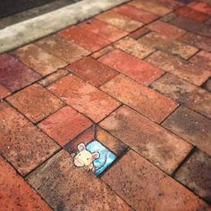Creative chalk creatures by @davidzinn . Follow his creative journey. ✨ Shared by @kitslam | YouTube | Instagram | Facebook