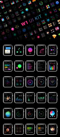 200+ Screen UI Kit for Apple Watch