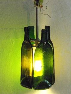 Bottles Up Recycled Wine Bottle Pendant Light by bentbottle