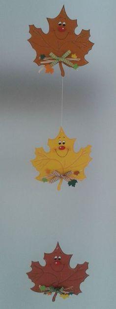 Fensterbild Blätterkette -Herbst- Dekoration - Tonkarton! 4 • EUR 6,90