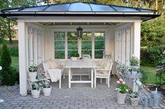 Bilderesultat for paviljong Gazebo, Patio Pergola, Backyard Patio, Outdoor Rooms, Outdoor Gardens, Outdoor Living, Outdoor Furniture Sets, Outdoor Decor, Cottage Garden Plan