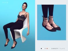 Christy Flats by SLYD at TSR via Sims 4 Updates
