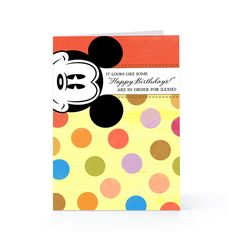 mickie mouse handmade greeting cards | Mickey Mouse With Dots - Birthday Greeting Card | Hallmark
