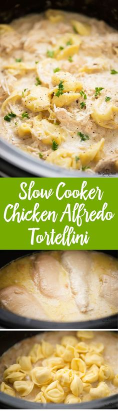 Slow Cooker Chicken Alfredo Tortellini is warm and comforting on a cold winter night. This easy, crockpot recipe will quickly become a favorite family dinner!