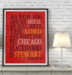 Chicago Blackhawks inspired Art Print  by ParodyArtPrints on Etsy