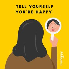 Some of our inner voices are quite cruel—we say things to ourselves that we would never say to others, and what we say to ourselves makes a huge difference in our ability to be happy. It helps us feel safe, and that allows us to feel happier, less stressed and more creative. TELL YOURSELF, I'M HAPPY! ❤️😄 #livehappy #happyacts Happiness Quotes, Happy Quotes, Life Quotes, Live Happy, Feeling Happy, Happy Thoughts, Told You So, Photo And Video, Feelings