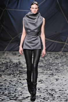 Leather leggings at Gareth Pugh