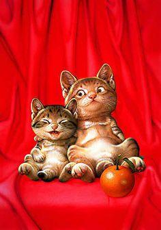 Makoto Muramatsu   makoto muramatsu art paintings cats pets #MakotoMuramatsu