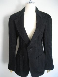 Junya Watanabe Comme Des Garcons Blazer Denim Jacket AD2009 #Commedesgarcons #BasicJacket