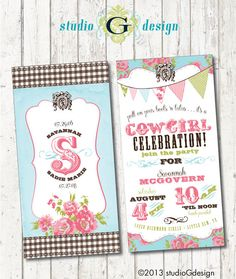 in LOVE with these party invites!