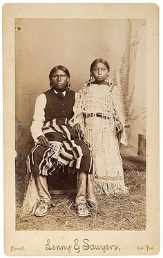 Son and daughter of Big Tree - Kiowa – 1889