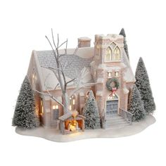 Shop for Department 56 Winter Frost Village Holy Night Church Collectible Figurine at ShopStyle. All Things Christmas, Christmas Home, White Christmas, Vintage Christmas, Christmas Holidays, Christmas Crafts, Christmas Decorations, Christmas Glitter, Miniature Christmas