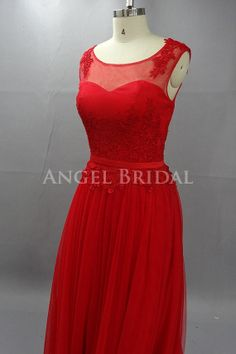 Red Prom Dress,Tulle Prom Dress,Lace Prom Dress,Long Prom Dress,Evening Dress on Etsy, $199.00