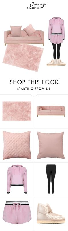 """relaxing at home"" by effyswanhaze ❤ liked on Polyvore featuring Loloi Rugs, Pottery Barn, Topshop, Boohoo and Mou"