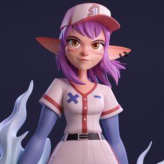3d Model Character, Character Creation, Character Art, Work Inspiration, Character Design Inspiration, Zbrush, Hedgehog Movie, Baseball Girls, Modelos 3d
