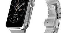 Apple Watch Band, Eoso Stainless Steel Replacement Smart Watch Band Wrist Strap Bracelet with Butterfly Buckle Clasp for 38mm Apple Watch All Model(Butterfly Silver,38mm)