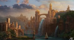 Capital of Azaliera. A concept piece that was suppose to act as a base for a detailed matte painting but I run out of time before the next big commission kicked in. Hopefully, one day I have time t...