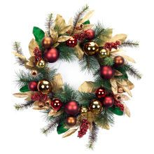 Glittered Wreath with Ornaments