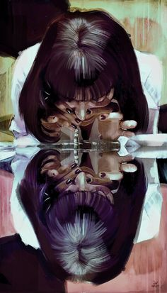 adrenaline? 'Mia Wallace'  Pulp Fiction Art Print