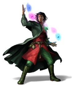 Male Human Ion Wizard - Pathfinder PFRPG DND D&D 3.5 5th ed d20 fantasy