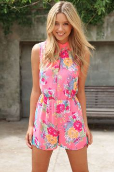 Floral Rompers are the best for spring