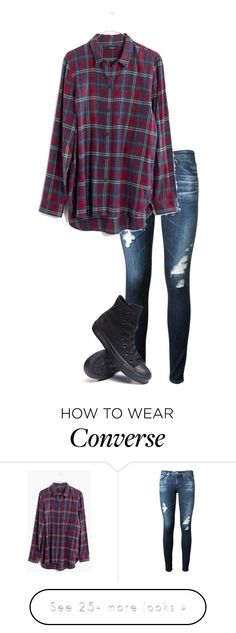 """wallflower//johnnie guilbert"" by bands-are-my-savior on Polyvore featuring AG Adriano Goldschmied, Madewell and Converse"