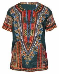 b80213a0dd Light weight cotton printed African dashiki. African Men Fashion