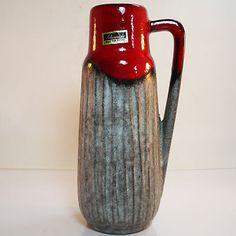 West German Pottery Vase • Scheurich 275-20