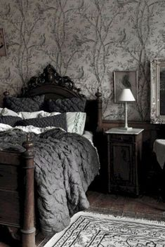 Top Amazing Modern Gothic Interior Design Ideas and Decor Pictures) example . - Home Decor Art - Top Amazing Modern Gothic Interior Design Ideas and Decor Pictures) example … - Grey Home Decor, Gothic Home Decor, Home Decor Bedroom, Bedroom Ideas, Victorian Gothic Decor, Gothic House, Modern Decor, Modern House Design, Modern Interior Design