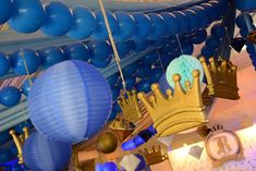 Riley's Royal Prince Themed Party – Ceiling Party Themes, Party Ideas, Royal Prince, 1st Birthdays, Ceiling, Ceilings, 1st Year Birthday, Ideas Party, Stone