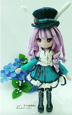 Crochet Fairy, Cute Crochet, Crochet Crafts, Crochet Projects, Amigurumi Doll, Amigurumi Patterns, Doll Patterns, Knitted Dolls, Crochet Dolls