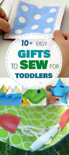 Gifts to sew for toddlers, with easy sewing tutorials and beginner patterns for handmade gifts for toddlers. I had such fun sewing these! #toysforkids #diytoys #handmade #tutorial #howto #toddlers #giftsforkids #diygifts #handmadetoy #kids #children #play #sewing #beginner
