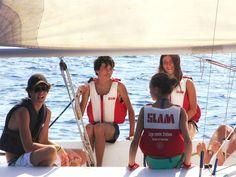 Tommaso, Cristian, Bianca ed Ester. #ventotene #mare #vacanze #vela