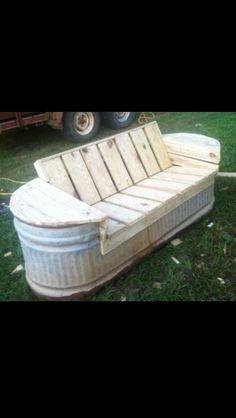 Trough seat