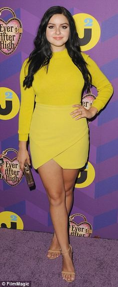 Body confident:Actress Dania Ramirez showed off her legs in hotpants, while Ariel Winter ...