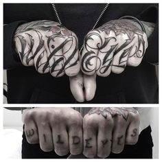 Bold, inspiring knuckle tattoos to enhance your hands and cement your status as a bad-ass Bone Hand Tattoo, Hand Tattoos, Hand And Finger Tattoos, Finger Tattoo For Women, Knuckle Tattoos, New Tattoos, Tattoos For Women, Arabic Tattoos, Tatoos