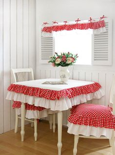 Polka dot and ruffles. So cute..