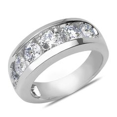 Ebay NissoniJewelry presents - Ladies 2CT Diamond Anniversary Band in 14k White Gold    Model Number:AB6894P-W423    http://www.ebay.com/itm/Ladies-2CT-Diamond-Anniversary-Band-in-14k-White-Gold/221630534094