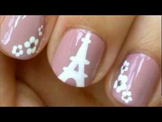 Eiffel Tower Nails! Here is an Eiffel Tower nail design with flowers. I hope you like this tutorial. I painted the Eiffel Tower with white acrylic paint, but white nail polish works too. I chose to put flowers on my other nails, but you could put an Eiffel Tower on each nail or polka dots, stripes, etc.. For the flowers I used a toothpick that I...