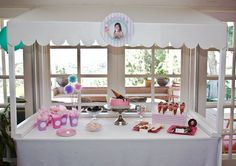 Ice cream parlor party- dessert table