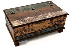 Baúl de madera Paris