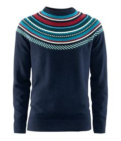 Fine-knit jumper in a wool blend with a jacquard-knit detail at the top