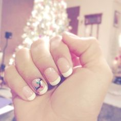 French Christmas manicure