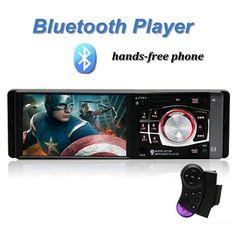 Car Radio MP5 Stereo Player 4.1 Inch Bluetooth Phone AUX-IN MP3 Power Output FM/USB/1 Din/Remote Control 12V Car Stereo FM Radi