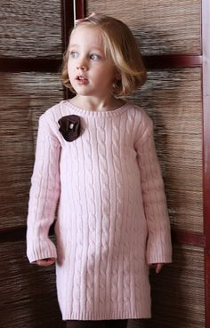 sweater to dress - oh I have tons of too short sweaters to do this with... She can even wear them with leggings.
