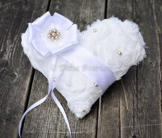 Ring bearer pillow by TouchOfEleganceByDel, $40.00