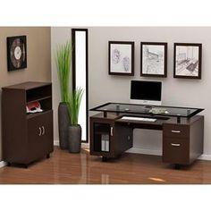 Ayden Main Desk in Espresso   Nebraska Furniture Mart