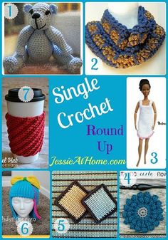 Single crochet is one of the first stitches most crocheters learn. It's great for a beginner to be able to make a finished item. So I have collected some patterns made mostly with single crochet. Crochet Beanie, Crochet Geek, Crochet Gifts, Crochet Motif, Crochet Designs, Crochet Stitches, Free Crochet, Knit Crochet, Crochet Books